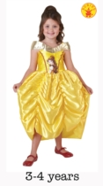 Classic Princess Belle Beauty and the Beast Dress Age 3-4 Years