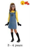 Girls Minion Fancy Dress Costume - Small
