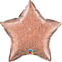 "Glittergraphic Rose Gold 20"" Star Foil Balloon (Pkgd)"