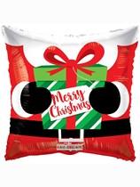 "Merry Christmas Santa 18"" Square Foil Balloon"