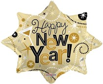 "New Year Explosion Shape 28"" Foil Balloon"