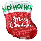 """Christmas Stocking 18"""" Foil Balloon"""