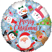 """Merry Christmas Characters 18"""" Foil Balloon"""