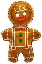 "Christmas Gingerbread Man 36"" Foil Balloon"