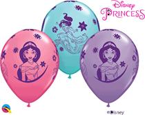"Disney Princess Jasmine Assorted 11"" Latex Balloons 6pk"