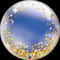 Qualatex gold confetti dots deco bubble balloon