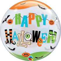 """Happy Halloween 22"""" Bubble Balloon"""