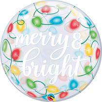 "Christmas Merry & Bright 22"" Bubble Balloon"