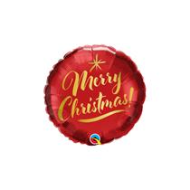 """Christmas Gold Script 9"""" Air Fill Foil Balloon"""