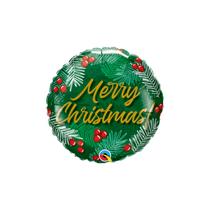 """Merry Christmas Berries 9"""" Mini Round Foil Balloon"""