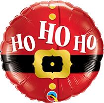 """Christmas Ho Ho Ho Santa 18"""" Foil Balloon"""