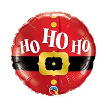 """Christmas Santa's Belt Ho Ho Ho 9"""" Foil Balloon"""
