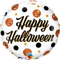 "Happy Halloween Sparkly Dots 18"" Foil Balloon"