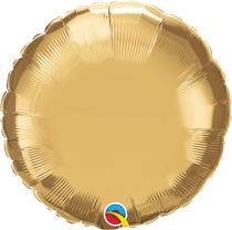 "Chrome Gold 18"" Round Foil Balloon (Pkgd)"