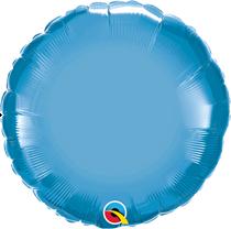 "Chrome Blue 18"" Round Foil Balloon (Pkgd)"
