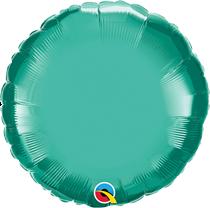 "Chrome Green 18"" Round Foil Balloon (Pkgd)"