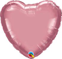 "Chrome Mauve 18"" Heart Foil Balloon (Pkgd)"