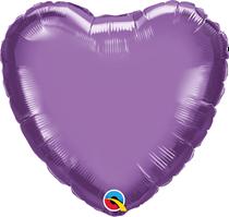 "Chrome Purple 18"" Heart Foil Balloon (Pkgd)"