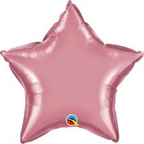 "Chrome Mauve 20"" Star Foil Balloon (Pkgd)"
