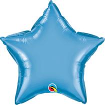 "Chrome Blue 20"" Star Foil Balloon (Pkgd)"
