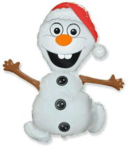 """Jumbo Christmas Olaf Snowman 36"""" Foil Balloon"""