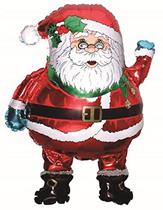 Christmas Jumbo Santa With Glasses Foil Balloon