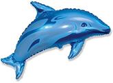 "Blue Dolphin 37"" Foil Balloon"