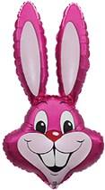 """Jumbo Hot Pink Rabbit 35"""" Foil Balloon Loose"""