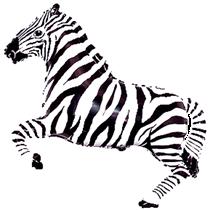 "Jumbo Zebra 42"" Animal Foil Balloon"