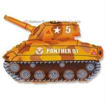 "Jumbo Brown Army Tank 31"" SuperShape Foil Balloon"