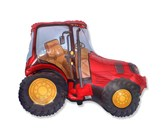"""Red Tractor 29"""" Foil Balloon"""