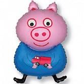 "Blue George Peppa Pig Piglet 31"" Foil Balloon"