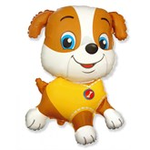 """Yellow Jumbo Bulldog 31"""" Foil Balloon"""