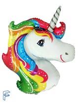 """Jumbo Unicorn Head 41"""" Foil Balloon"""