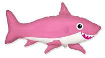 Jumbo Pink Smiling Shark Foil Balloon