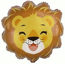 """Lion Head 23"""" Jumbo Foil Balloon"""