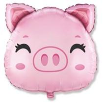 """Pig Head 24"""" Jumbo Foil Balloon"""