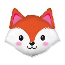 """Fox Head 25"""" Jumbo Foil Balloon"""