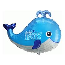 "Baby Boy Blue Whale 34"" Foil Balloon"
