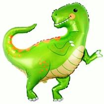 """Green Baby Dino 33"""" Jumbo Foil Balloon"""