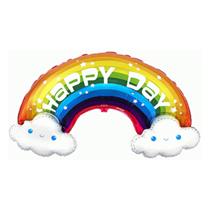 "Happy Day Rainbow 39"" Large Foil Balloon"
