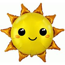Golden Smiley Sunshine Large Foil Balloon