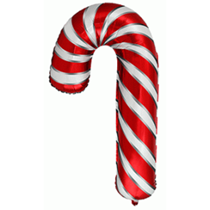 Red & White Candy Cane Foil Balloon