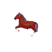 Dark Brown Horse Mini Shape Foil Balloon