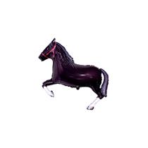 """Black Horse 16"""" Mini Shape Foil Balloon"""