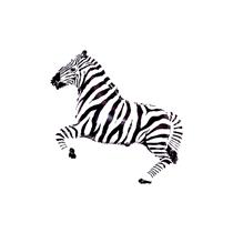 "Black Zebra 14"" Mini Shape Foil Balloon"