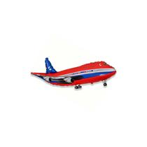 """Red Jumbo Jet 14"""" Mini Shape Foil Balloon"""