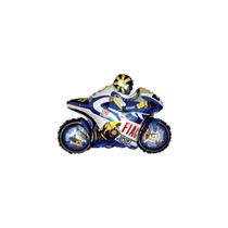 "Blue Motorbike 13"" Mini Shape Foil Balloon"