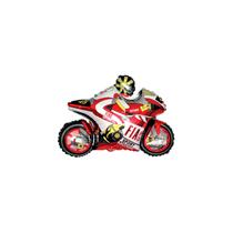 Red Moto Racing Bike Mini Shape Foil Balloon