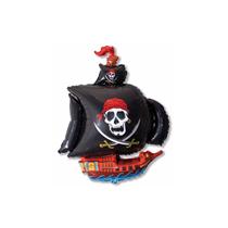 Black Pirate Ship Mini Shape Foil Balloon